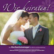 """Titel der Broschüre """"Wir heiraten"""" für Rüdersdorf, Schöneiche, Erkner, Wolterdorf und Grünheide (Mark)"""